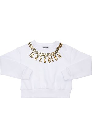 Moschino Logo Print Cotton Sweatshirt