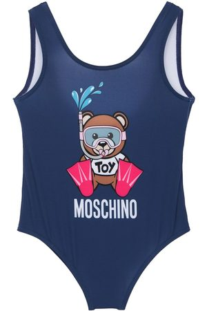 Moschino Toy Print Lycra One Piece Swimsuit