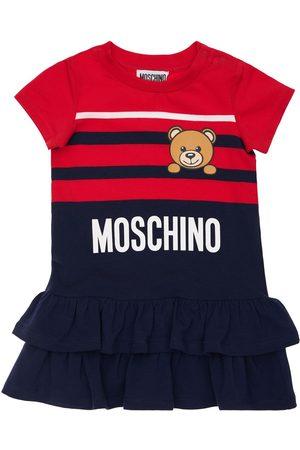 Moschino Toy Print Cotton Jersey Dress