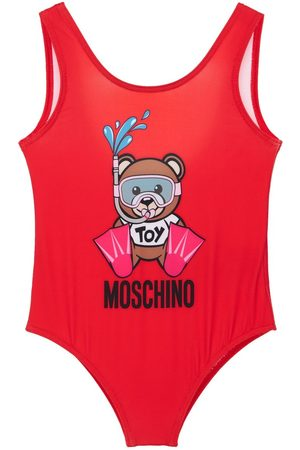 Moschino Toy Print Lycra One Piece Swimsuit