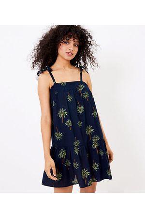 LOFT Women Casual Dresses - Beach Palm Tie Strap Swing Dress