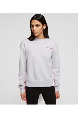 Karl Lagerfeld Women Sweatshirts - MIXED FABRIC SWEATSHIRT