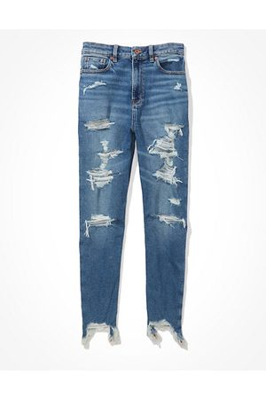 American Eagle Outfitters Stretch Highest Waist Mom Jean Women's 2 Long