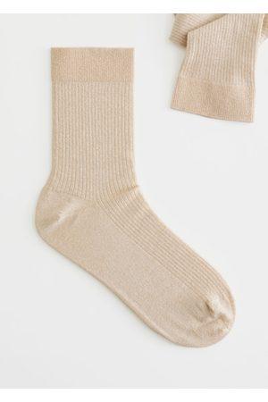 & OTHER STORIES Glitter Rib Knit Ankle Socks