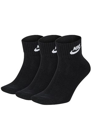 Nike Everyday Essential Ankle Socks (3-Pack) in / Size Medium Cotton/Polyester/Spandex