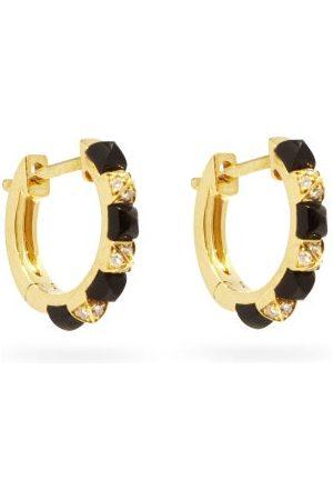 Raphaele Canot Women Earrings - Diamond, Onyx & 18kt Hoop Earrings - Womens