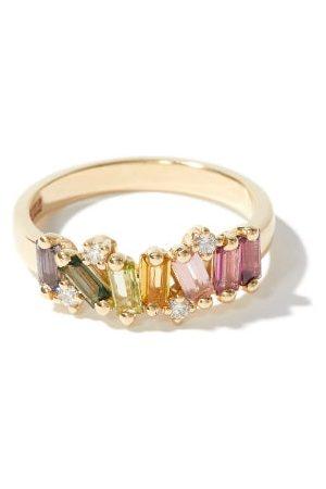 Suzanne Kalan Amalfi Wave Band Diamond & 14kt Gold Ring - Womens - Multi