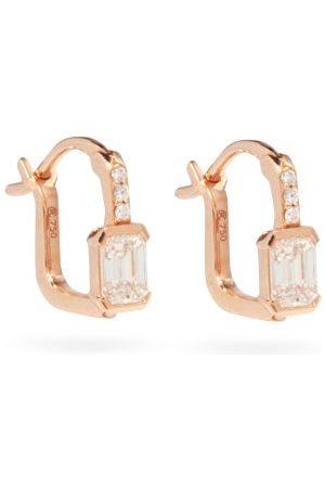 Raphaele Canot Women Earrings - Diamond & 18kt Rose- Hoop Earrings - Womens - Rose