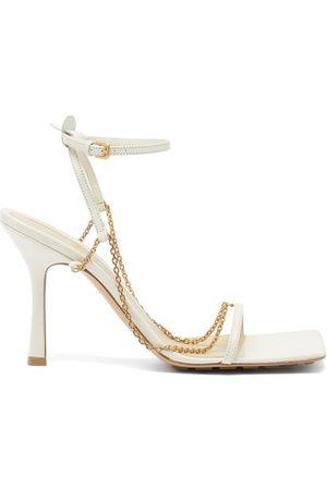 Bottega Veneta Women Sandals - Stretch Chain-embellished Leather Sandals - Womens - Ivory