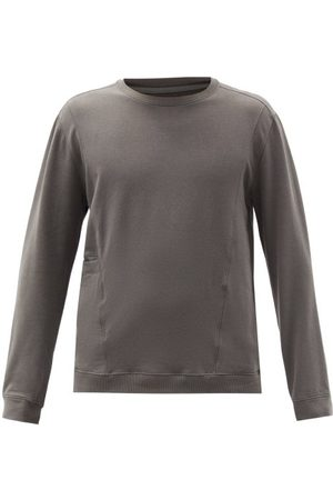 Lahgo Men Pajamas - Slip-pocket Pima-cotton Blend Pyjama Top - Mens - Grey