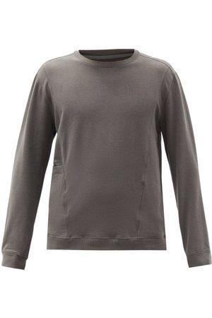 Lahgo Slip-pocket Pima-cotton Blend Pyjama Top - Mens - Grey