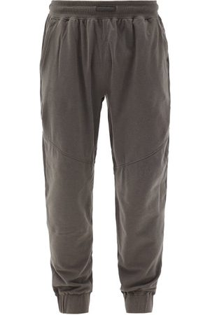 Lahgo Drawcord-waist Pima-cotton Blend Pyjama Trousers - Mens - Grey