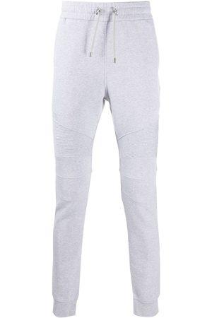 Balmain Logo-print ribbed track pants - Grey