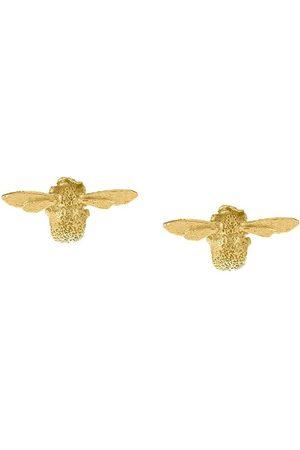 Alex Monroe Women Earrings - 18kt yellow Teeny Weeny Bee stud earrings