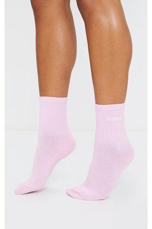 PRETTYLITTLETHING Embroidered Socks
