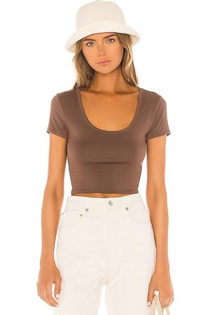 Lovers + Friends Coco Tee in Brown.