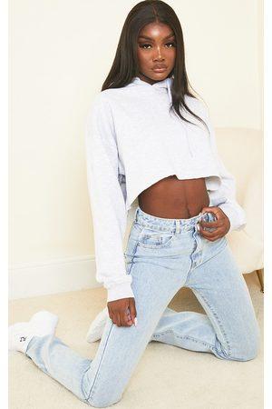 PRETTYLITTLETHING Women Straight - Tall Light Wash Long Leg Straight Jeans