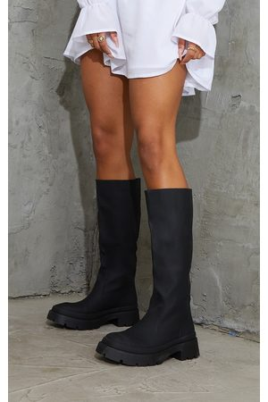 PRETTYLITTLETHING Women Thigh High Boots - Knee High Rubberised Boots