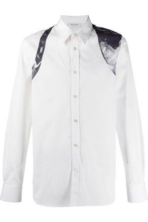 Alexander McQueen Men Shirts - Abstract print harness detail shirt