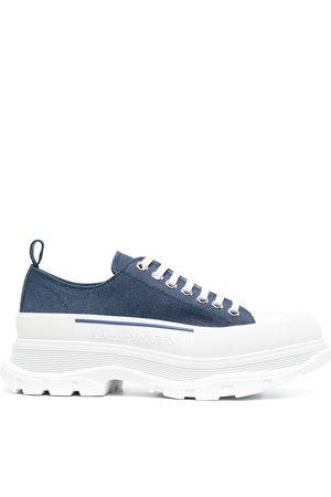 Alexander McQueen Men Sneakers - Tread Slick denim sneakers