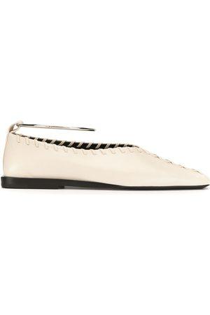Jil Sander Square-toe ballerina shoes
