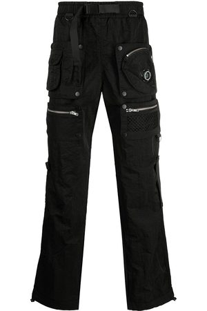 Chinatown Market Men Straight Leg Pants - Multi-zip pocket trousers