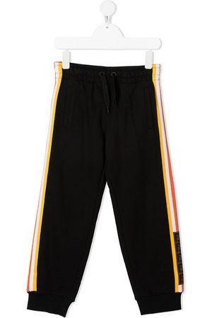 Fendi Girls Sweatpants - Striped logo-trim track pants