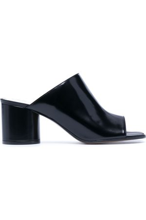 Maison Margiela Women Sandals - Tabi toe white-stitch sandals