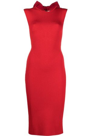 AZ FACTORY MyBody high-neck bow dress