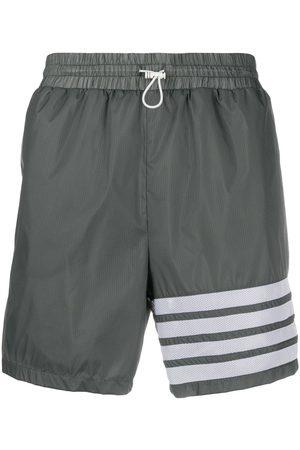 Thom Browne 4-bar running shorts - Grey