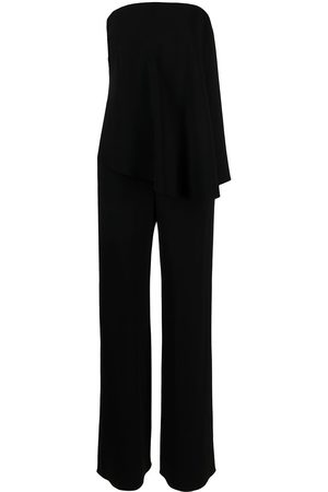 Emporio Armani Women Jumpsuits - Strapless straight-leg jumpsuit