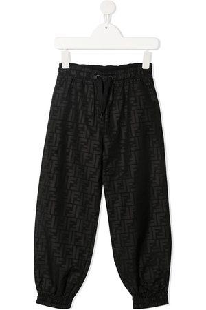 Fendi FF-motif track pants