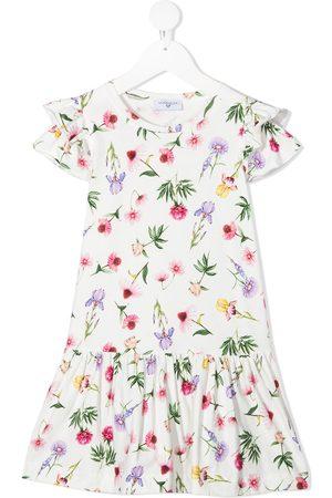 MONNALISA Floral-print drop-waist dress