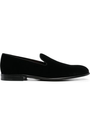 Dolce & Gabbana Piped velvet loafers