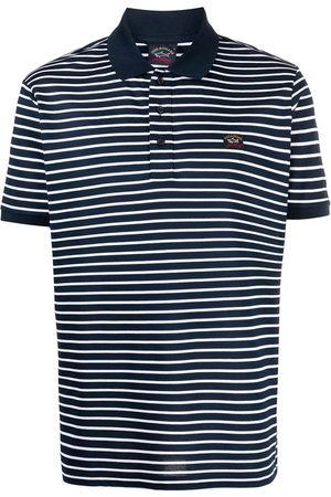 Paul & Shark Patch-detail stripe polo shirt