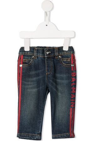 Balmain Jeans - Logo stripe jeans
