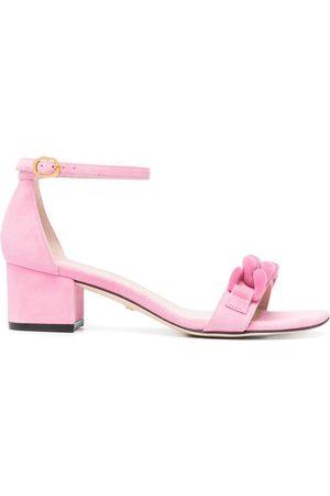 Stuart Weitzman Appliqué buckle sandals