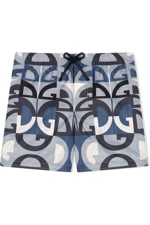 Dolce & Gabbana Logo-print swim shorts