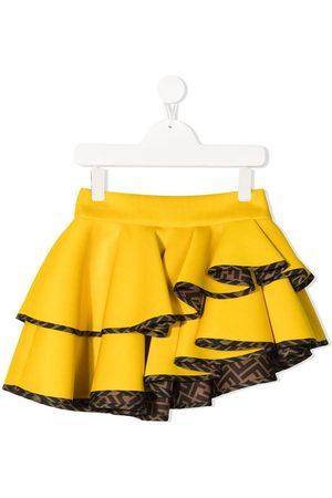 Fendi Logo-print ruffled skirt