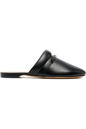 Givenchy Women Loafers - Logo-print backless loafers