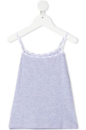 La Perla Girls Camisoles - Logo band-trimmed cami top - Grey