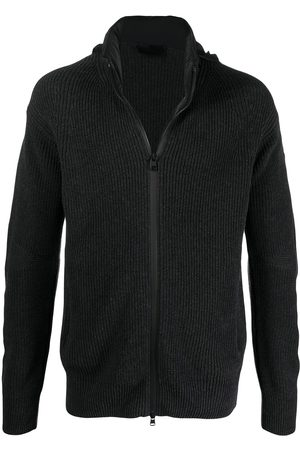 Moncler Men Sweatshirts - Ribbed-knit zip jumper - Grey