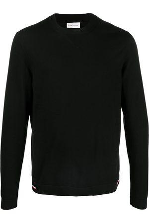 Moncler Men Sweatshirts - Tricolour-detail crew-neck jumper