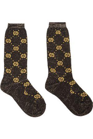 Gucci GG lamé cotton-blend socks