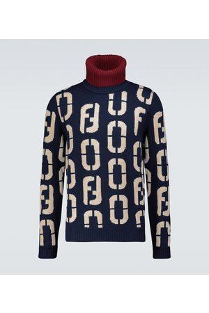 Fendi Intarsia knitted turtleneck sweater