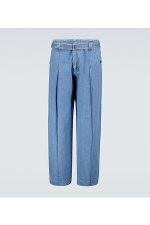 Loewe Belted high-waisted jeans