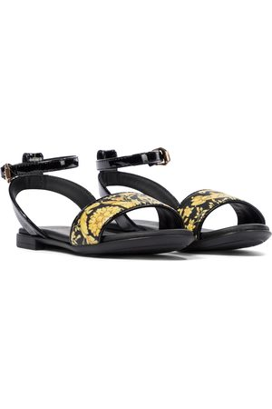 VERSACE Girls Sandals - Barocco patent leather sandals