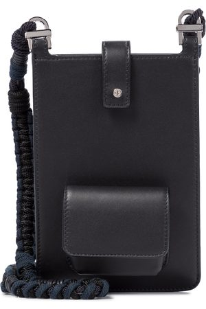 Loro Piana Forget Me Not leather phone pouch