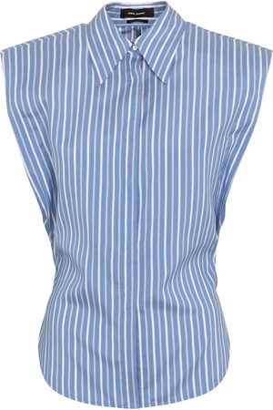 Isabel Marant Women Tank Tops - Enza pinstriped silk shirt