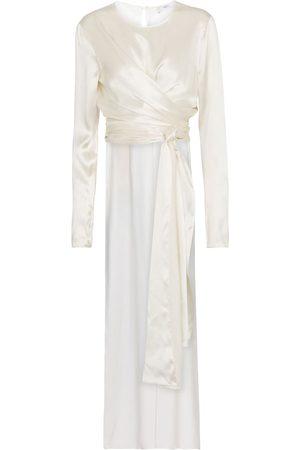 Safiyaa Women Tops - Bridal Silvanna silk satin top